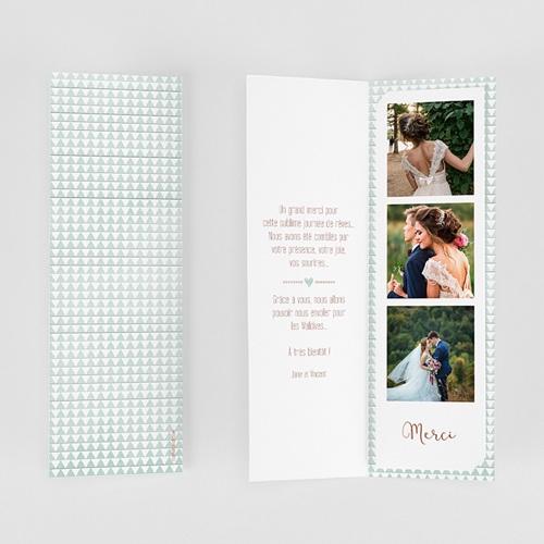 Carte Remerciements Mariage Wedding Love Triangles gratuit