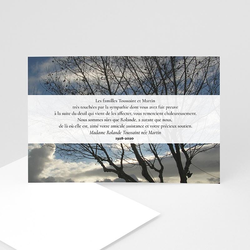 Carte Remerciement Décès Universel L'arbre de lumière