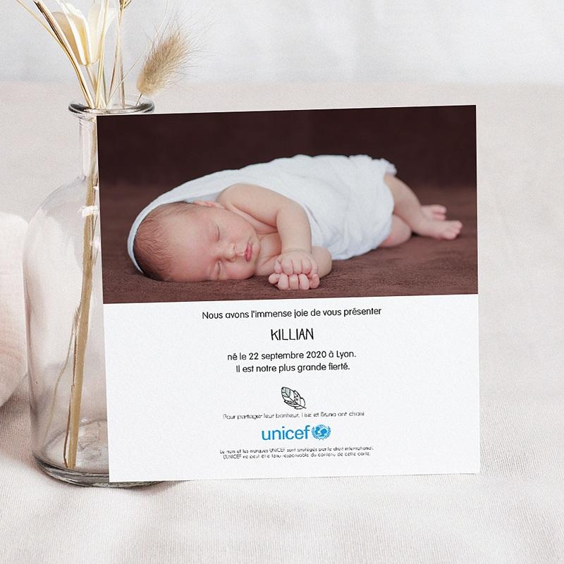 Faire-Part Naissance Garçon UNICEF Hello Boho pas cher