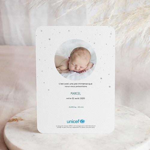 Faire-Part Naissance Garçon UNICEF Petit Faon pas cher