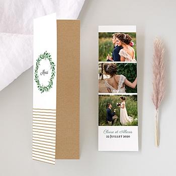 Carte Remerciements Mariage - Charme Floral - 0