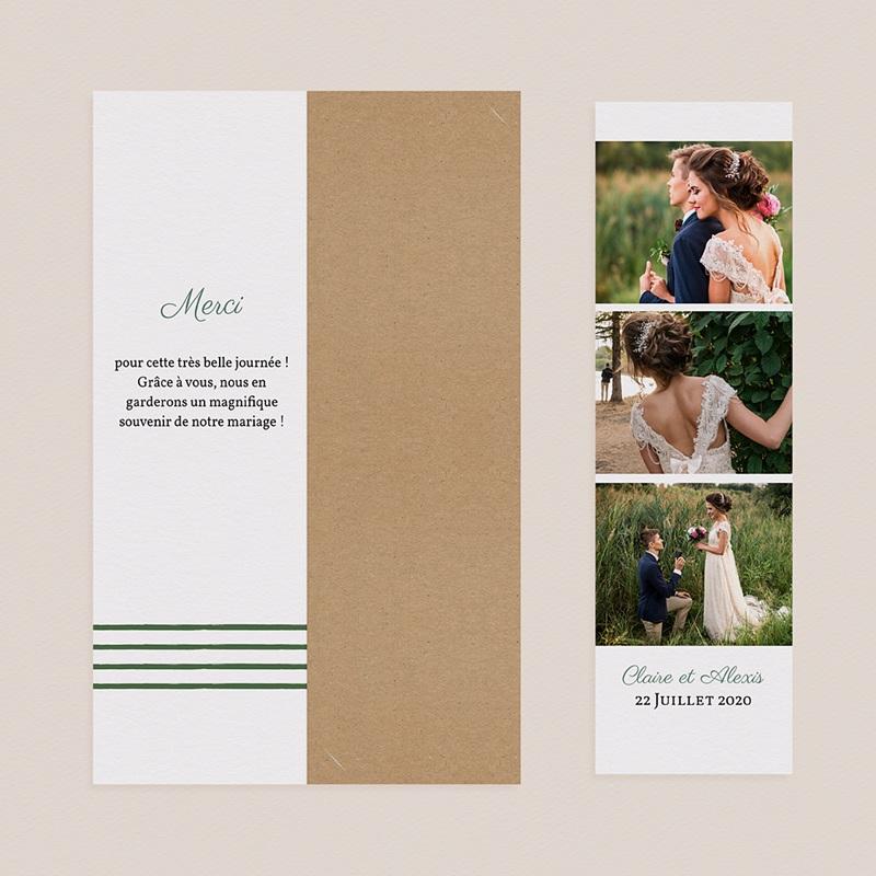 Carte Remerciements Mariage Charme Floral pas cher