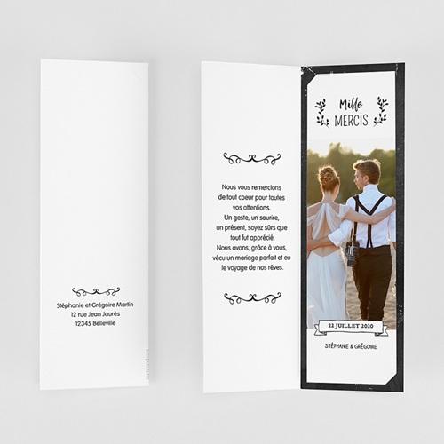 Carte Remerciements Mariage Merci Ardoise gratuit