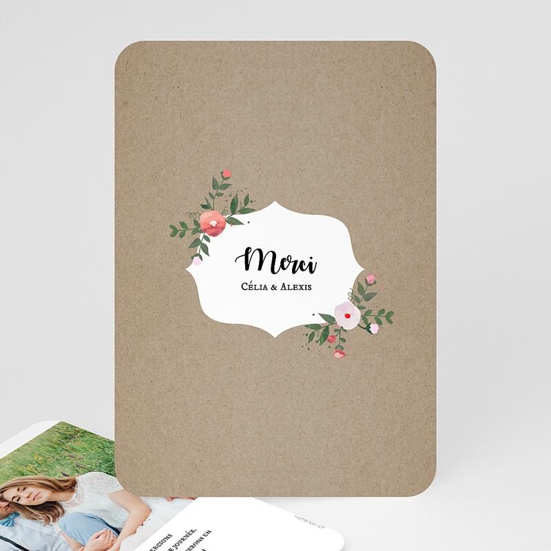 Carte Remerciements Mariage Merci fleuri
