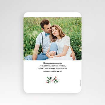 Remerciement mariage nature - Merci fleuri