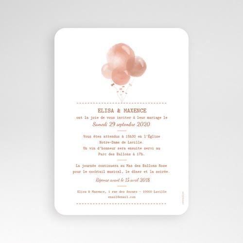 Faire-Part Mariage Personnalisés - Ballons Aquarelle 53379 preview