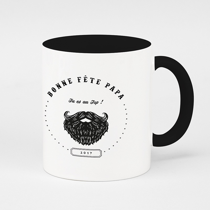 Mug Personnalisé de Couleur Papa Hipster