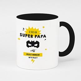 Mug de couleur Pour super papa