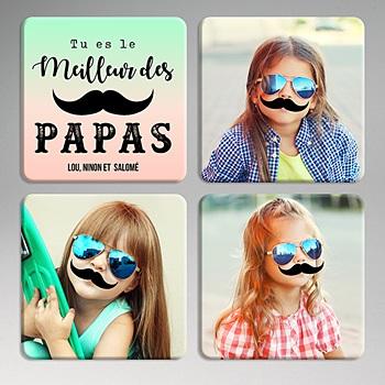 Dessous de verre avec photo - Le TOP des Papas - 0