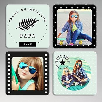 Dessous de verre avec photo - Papa Star - 0