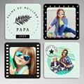 Dessous de verre avec photo - Papa Star 53476 thumb