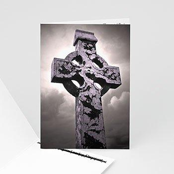 Carte remerciement décès chrétien quand le ciel bas et lourd...
