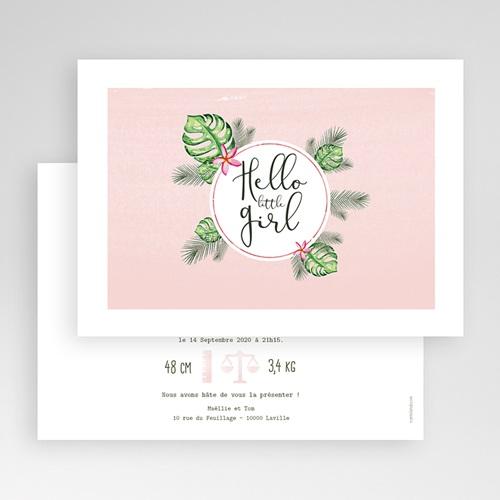 Faire-Part Naissance Fille - Fleur des tropiques 53613 thumb
