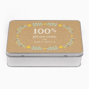 Boîte en métal personnalisée - Love made - 0