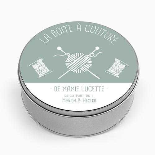 Boîte en métal personnalisée - Tricot pour Mamie 53663
