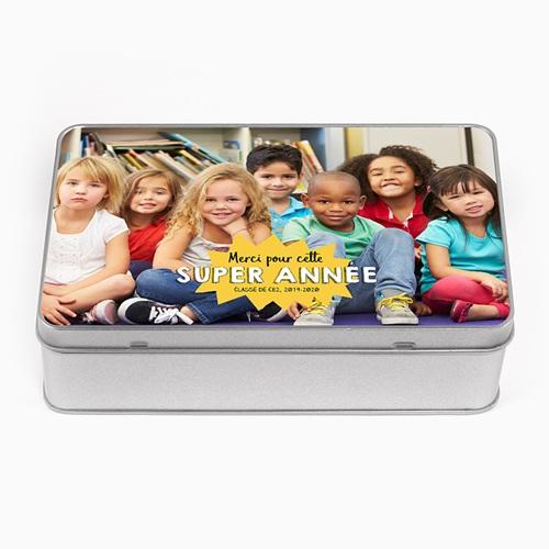 Boîte en métal personnalisée - Youpi l'école 53666