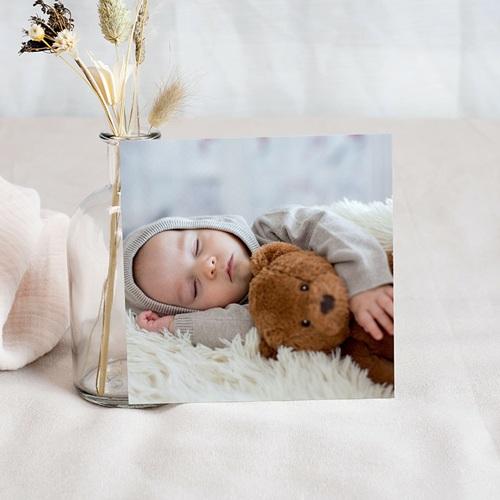 Carte Remerciement Naissance Garçon Lettres de Bébé pas cher