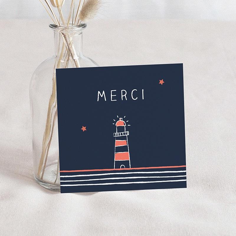 Carte Remerciement Naissance Garçon Petit Navire
