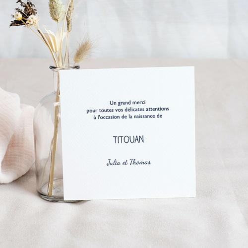 Carte remerciement naissance garçon Petit Navire pas cher