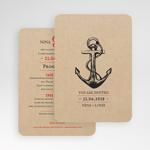 Faire-Part Mariage - Ancre Marine 53717 thumb