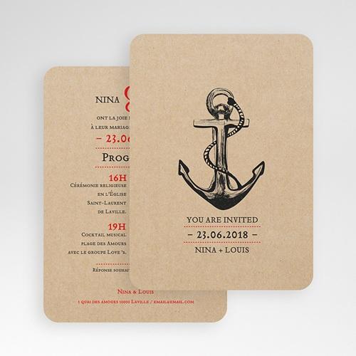 Faire-Part Mariage Ancre Marine gratuit