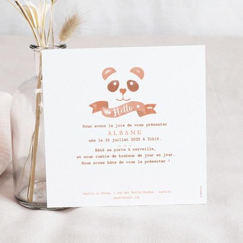 Faire-Part Naissance Fille - Panda Aquarelle 53744 preview
