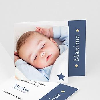 Faire-part naissance garçon Petite étoile bleue