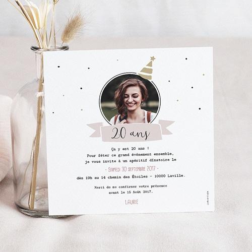 Invitation Anniversaire Adulte - Jour de gloire 53855 preview