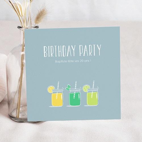 Invitation Anniversaire Adulte - Limonade Party 53872 thumb
