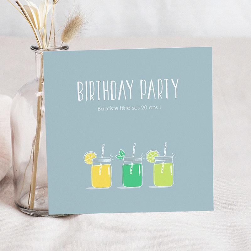 Carte Invitation Anniversaire Adulte Limonade Party