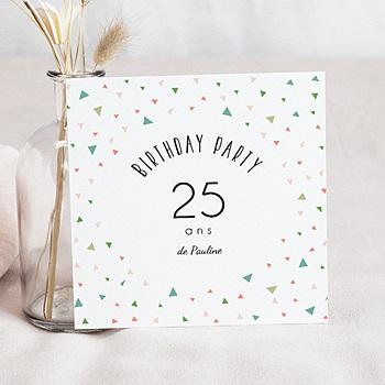 Carte invitation anniversaire adulte 25 ans en fête