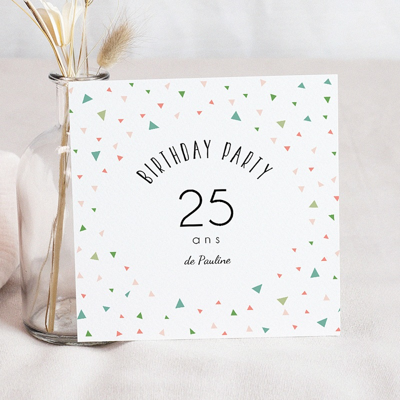 Favori Carte Anniversaire Invitation Adulte | Carteland.com SP93