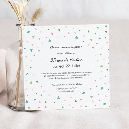 invitation anniversaire adulte 25 ans en f te. Black Bedroom Furniture Sets. Home Design Ideas