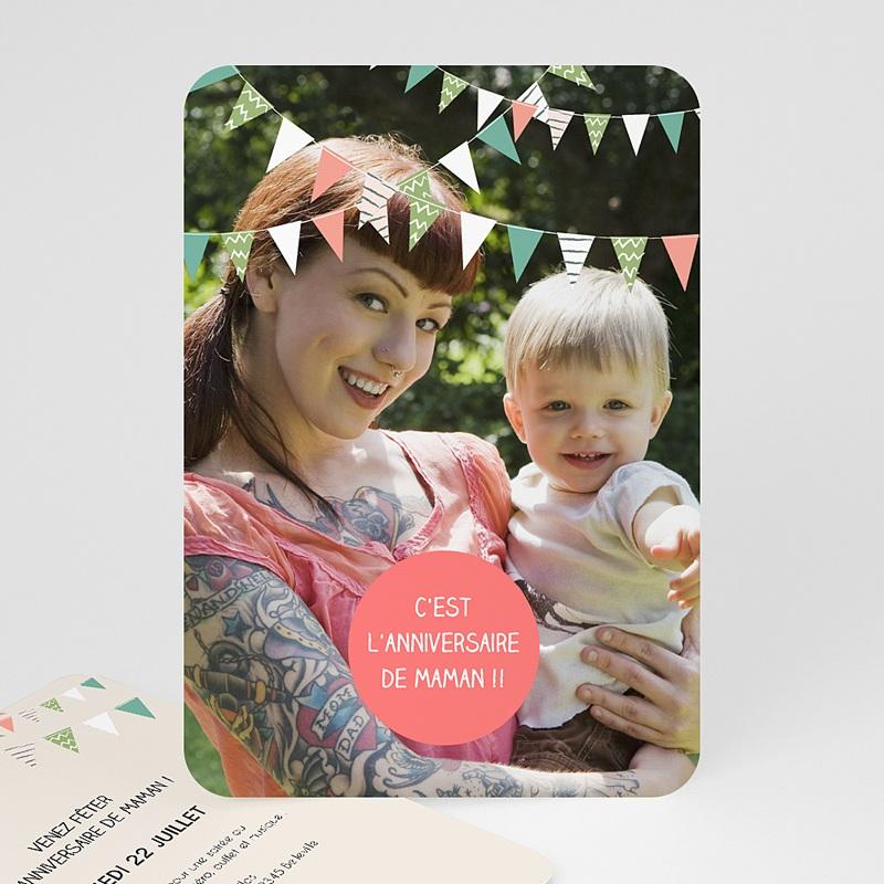Carte Invitation Anniversaire Adulte Festive