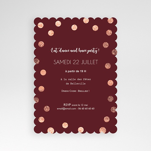 Carte Invitation Anniversaire Adulte Effet scintillant pas cher
