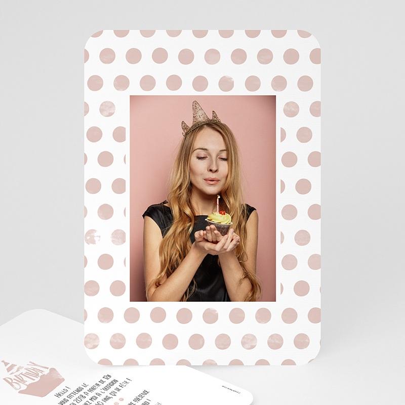 Carte Invitation Anniversaire Adulte Cupcake Aquarelle