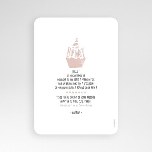 Carte Invitation Anniversaire Adulte Cupcake Aquarelle pas cher