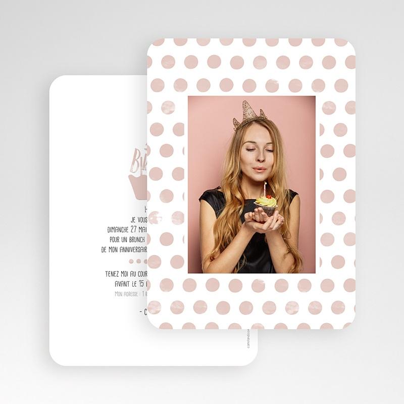Carte Invitation Anniversaire Adulte Cupcake Aquarelle gratuit