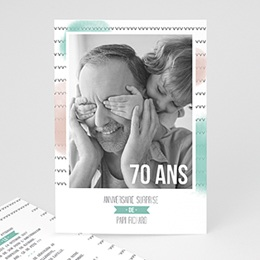 Carte invitation anniversaire adulte Photo d'anniversaire