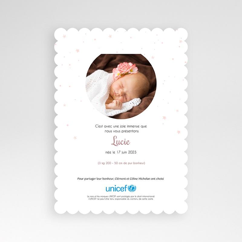 Faire-Part Naissance Fille UNICEF Petite biche pas cher