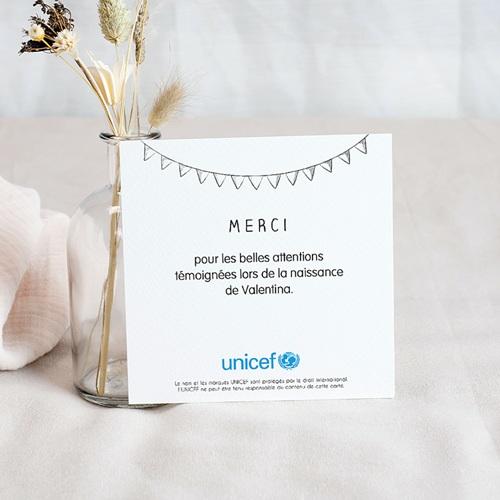 Carte Remerciement Naissance UNICEF Bienvenue pas cher