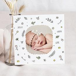 Faire-part naissance fille Douceur fleurie