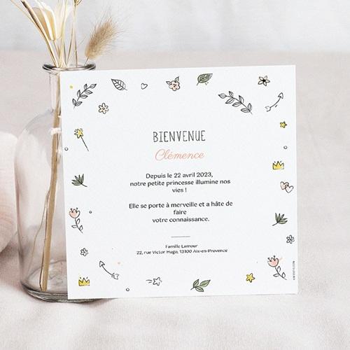 Faire-Part Naissance Fille - Douceur fleurie 54078 preview