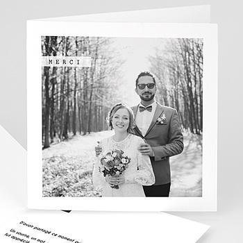 Remerciements Mariage Personnalisés - Noir et blanc - 0