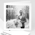 Carte remerciement mariage - Noir et blanc - 6389