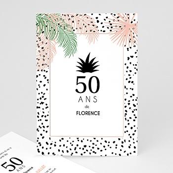Carte invitation anniversaire adulte Sous les palmiers