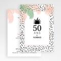 Invitation Anniversaire Adulte - Sous les palmiers 54148 thumb