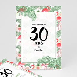 Carte invitation anniversaire adulte Tropical Drink