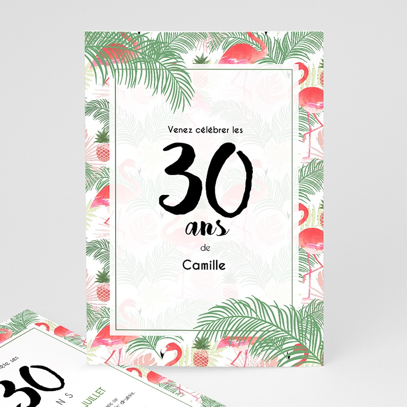 Favori Invitation Anniversaire Adulte - Tropical Drink | Carteland.com VU66