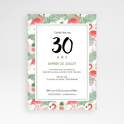 Invitation Anniversaire Adulte - Tropical Drink 54156 preview